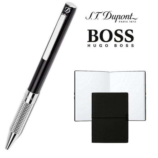 Set Pix S. T. Dupont Bille Black Diamond si Note Pad Black Hugo Boss 0