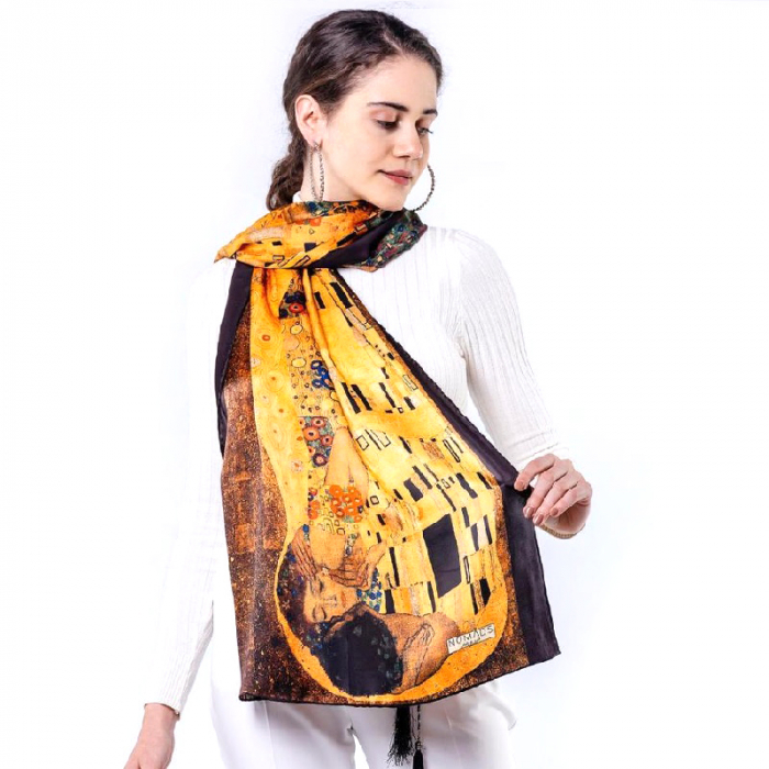 Esarfa Matase Kiss - Gustav Klimt [0]