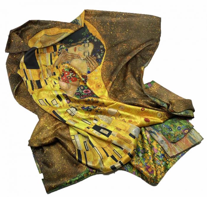 Esarfa Matase Kiss - Gustav Klimt 1