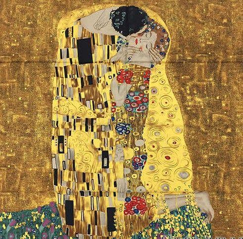 Esarfa Matase Kiss - Gustav Klimt 0