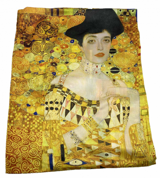 The Lady in Gold Esarfa Matase  - Gustav Klimt 1