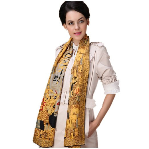 The Lady in Gold Esarfa Matase  - Gustav Klimt 0