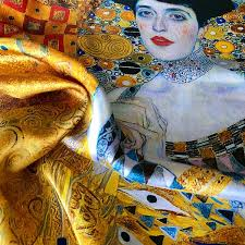 The Lady in Gold Esarfa Matase  - Gustav Klimt 3