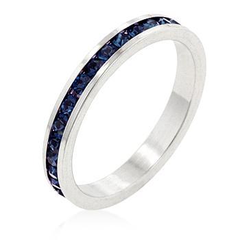 Inel Eternity Band Darkblue Diamonds 0