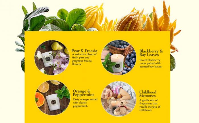 Luxury Cadou ANJOU Set 4 lumanari naturale parfumate 6