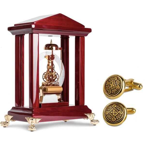 Set Exquisite Luxury Louvre Watch by Credan si Butoni Gold Round by Credan-big