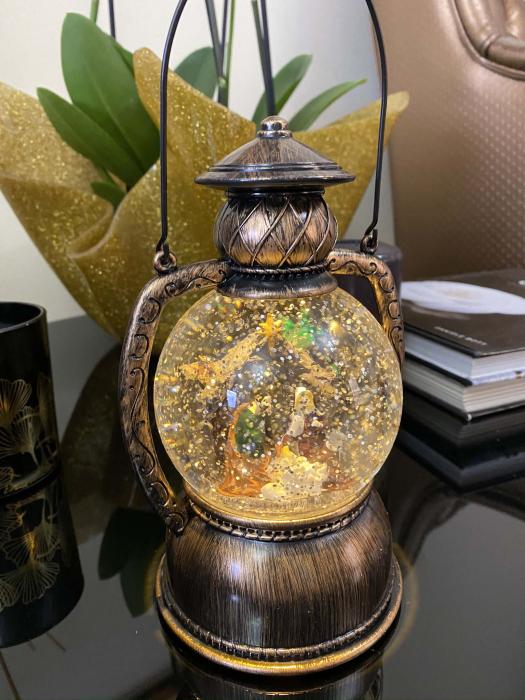 Christmas Felinar Magic  - Nasterea Domnului 19 cm 3