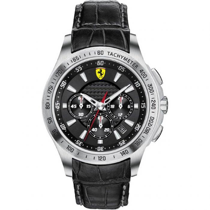Ceas Luxury Scuderia Ferrari Black-big