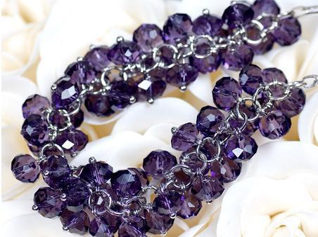 Colier Bead Purple 1