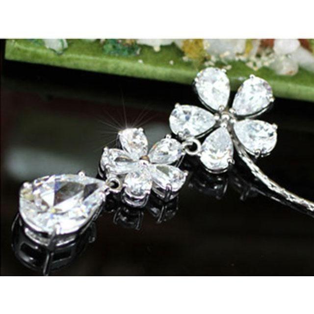 Colier Borealy Diamonds Flowers 3
