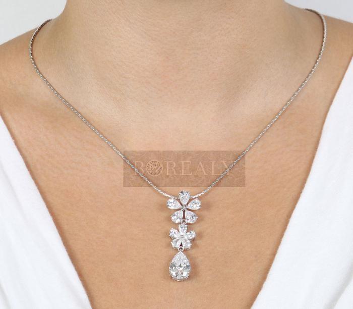 Colier Borealy Diamonds Flowers 2