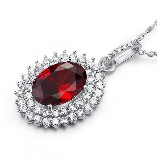 Colier Contesa Red Rubin Argint 925 [3]
