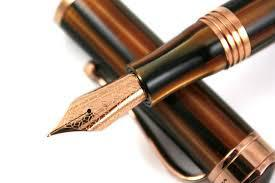 Ducale Brown Emperador Rose Gold Fountain Pen by Montegrappa, Made in Italy-big