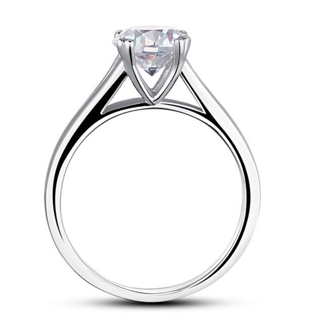 Inel Solitaire Simulated Diamond Argint 925 Marimea 6 2