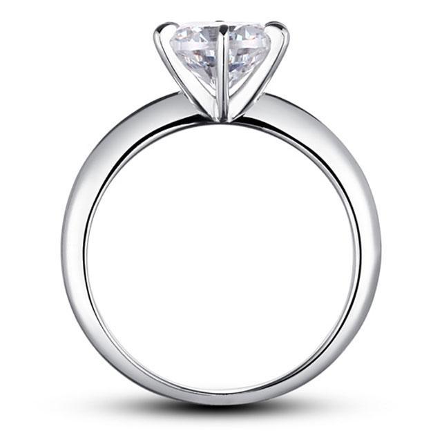 Inel Borealy Argint 925 Solitaire Lux Simulated Diamond Marimea 6-big