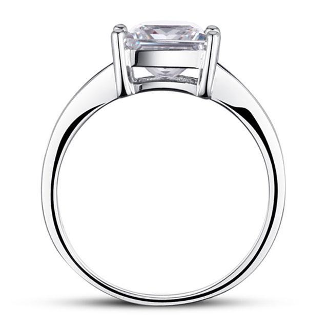 Inel Borealy Argint 925 Simulated Diamond Zirconiu Princess Marimea 6 3