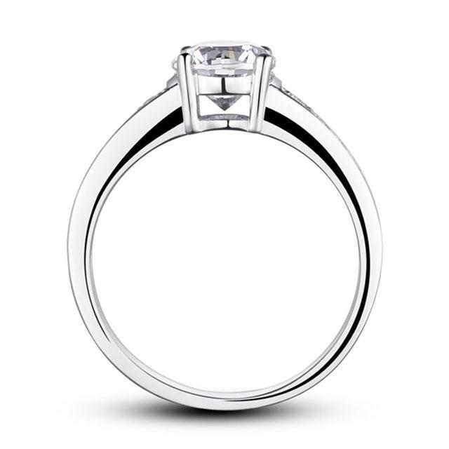 Inel Borealy Argint 925 Zirconiu Simulated Diamond Solitaire Marimea 7 2