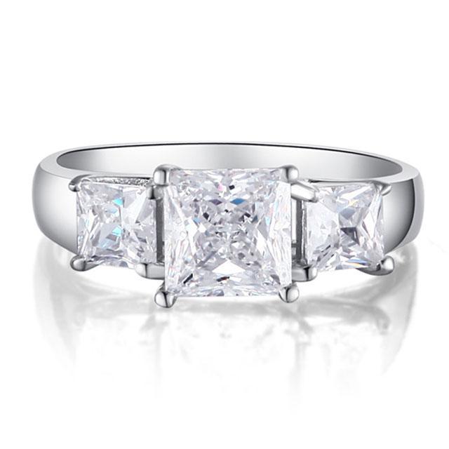 Inel Princess Simulated Diamond Argint 925 Marimea 7,5 1