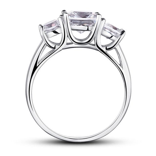 Inel Princess Simulated Diamond Argint 925 Marimea 7,5 2