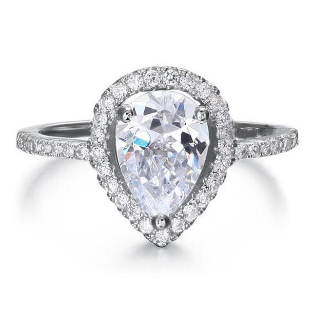Inel Pear Silver Simulated Diamond Argint 925 Marimea 6 1