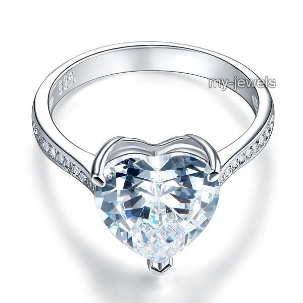 Inel Borealy Argint 925 Precious Crystal Heart, Masura 7 [3]