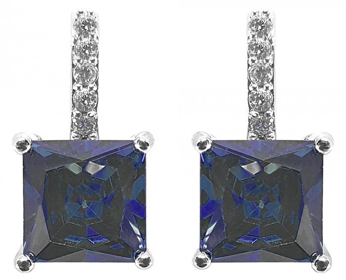 Geantă Poseta Cacharel Iris Bleumarine & Cercei Blue Fine by Borealy [1]