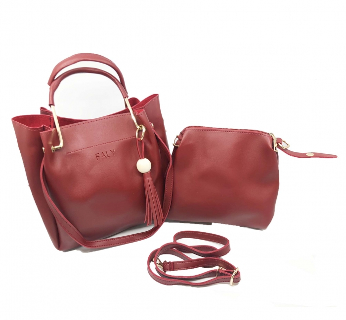 Geanta Borealy 2 in 1  Lady Red-big