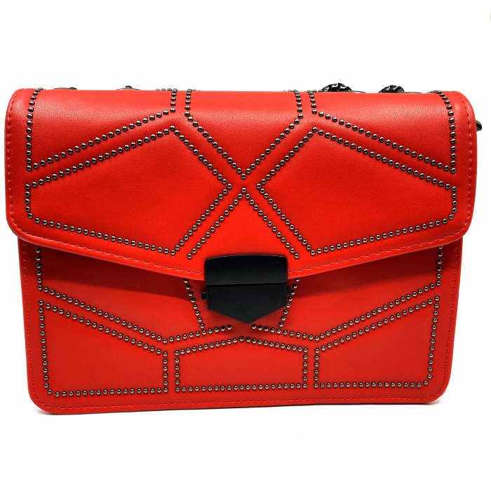Geanta Red Studded 1