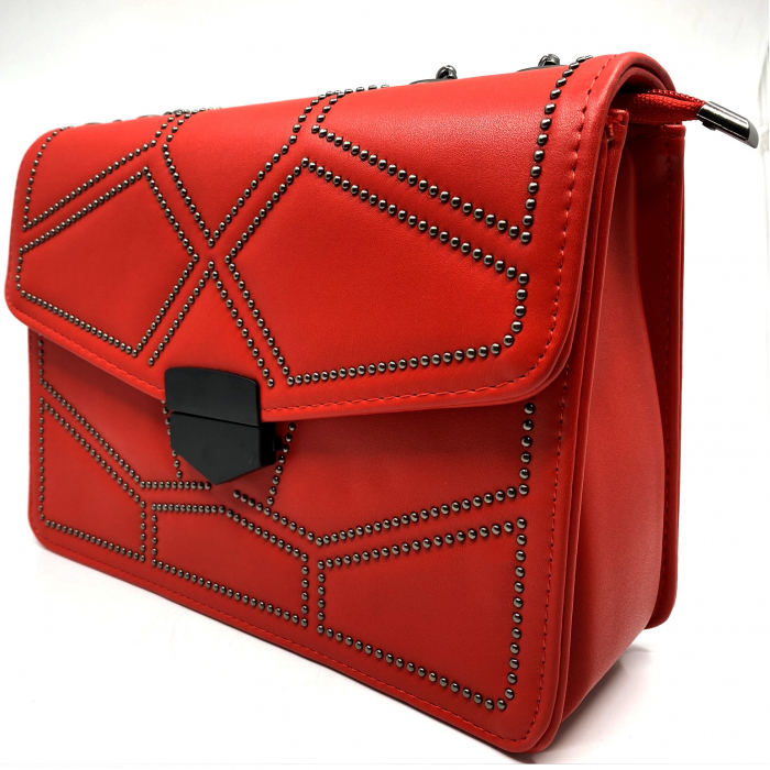 Geanta Red Studded 3