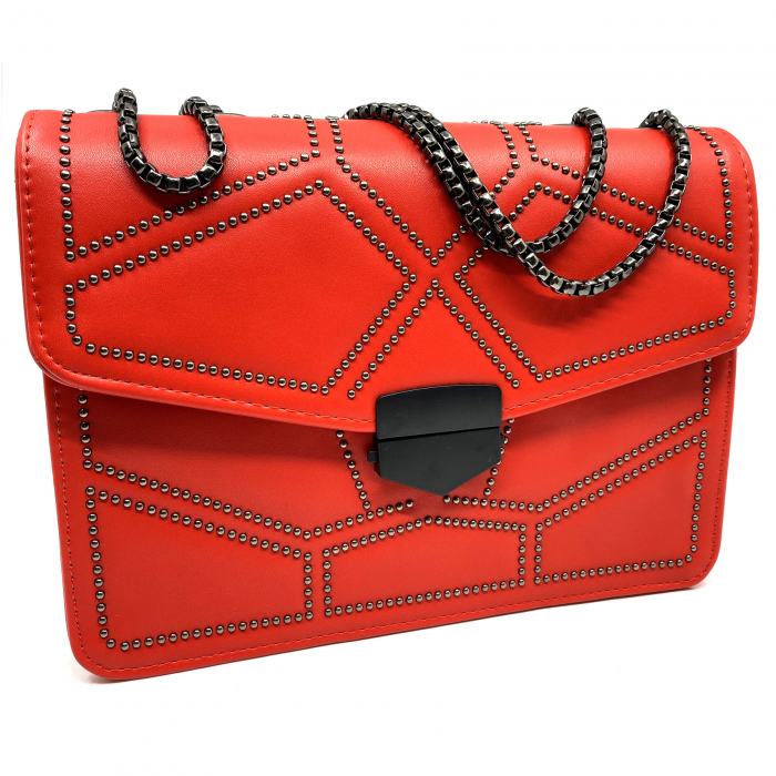 Geanta Red Studded 0