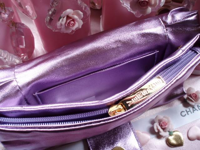 Geanta seara Versace Metalic Lilac Clutch-big