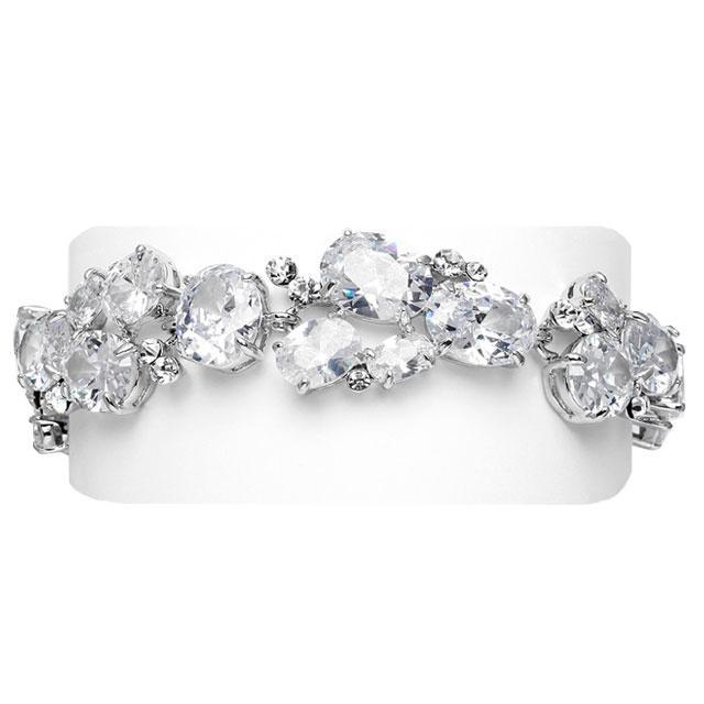 Glamour White Diamonds Bratara-big