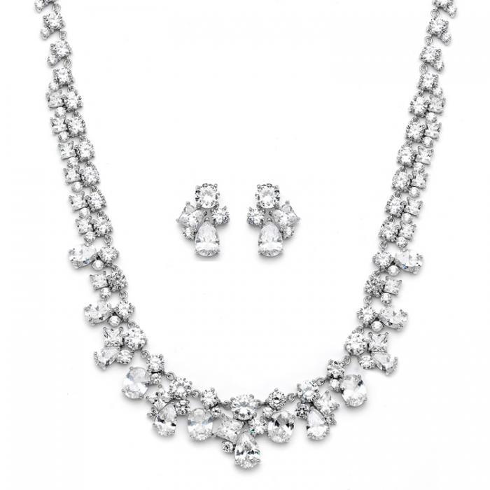 Set Borealy Medalion si Cercei Glamour White 0