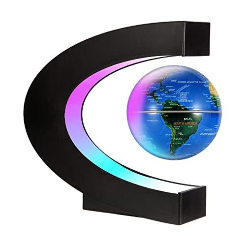 Glob Pământesc Levitaţie Magnetic cu leduri + Cadou Agenda Jurnal de Calatorii Piele Ecologica Maro [4]