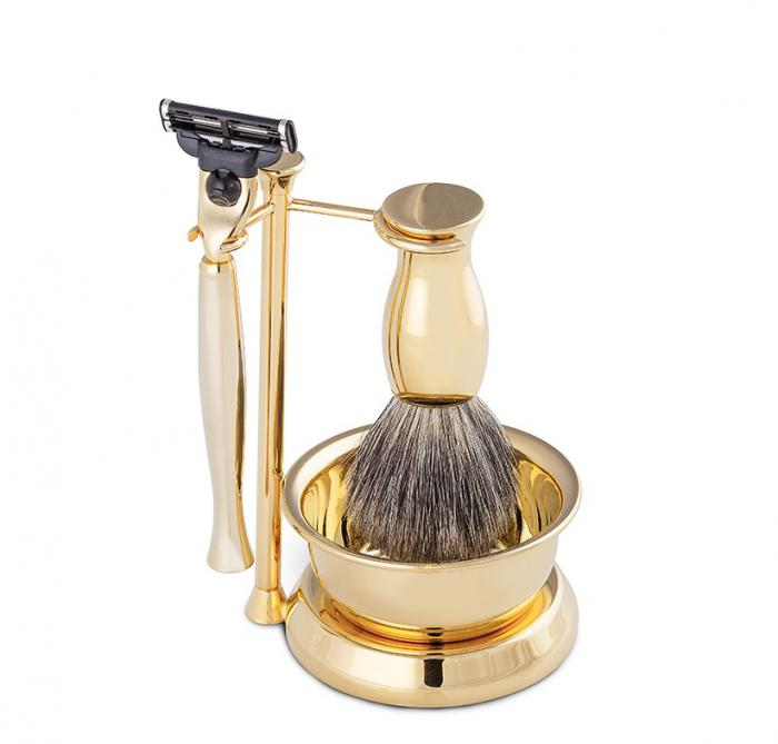 Gold Plated Luxury Shaving Set by Erbe Solingen, made in Germany-big