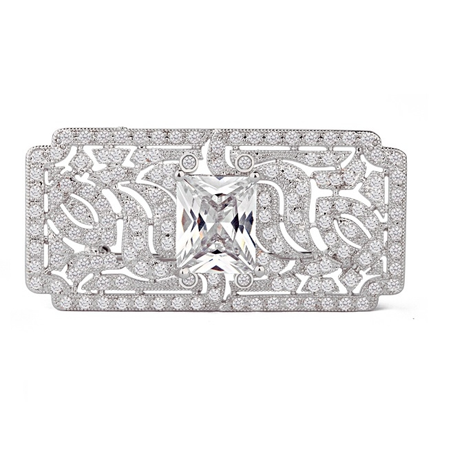 Great Gatsby Luxury Broşă Blue 1