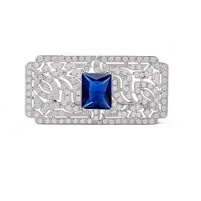 Great Gatsby Luxury Broşă Blue 0