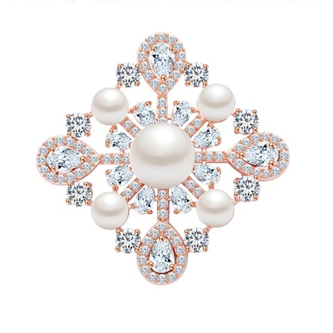 Broşă Trianon Baroque Rose [0]