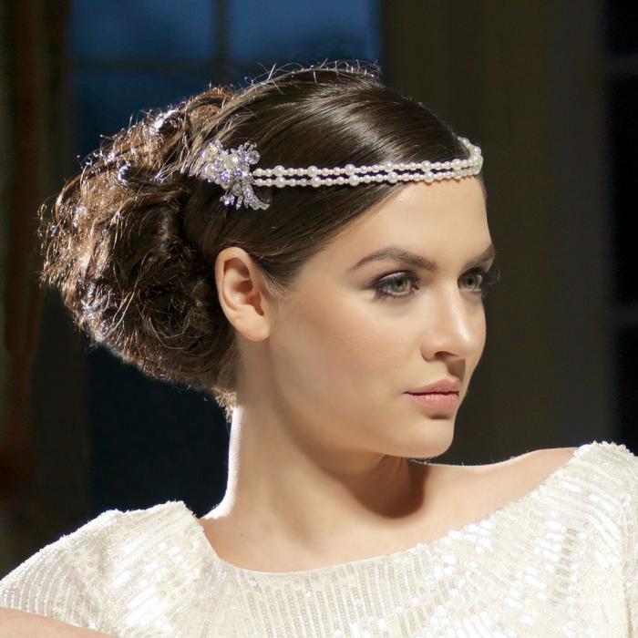 Great Gatsby Glamour Perle Headpiece Tiara-big