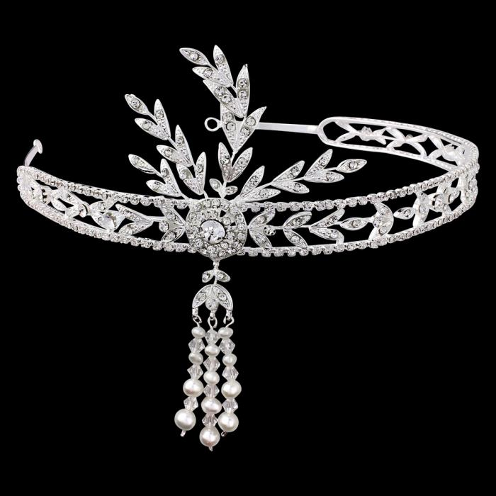 Great Gatsby Luxury Tiara Headband-big