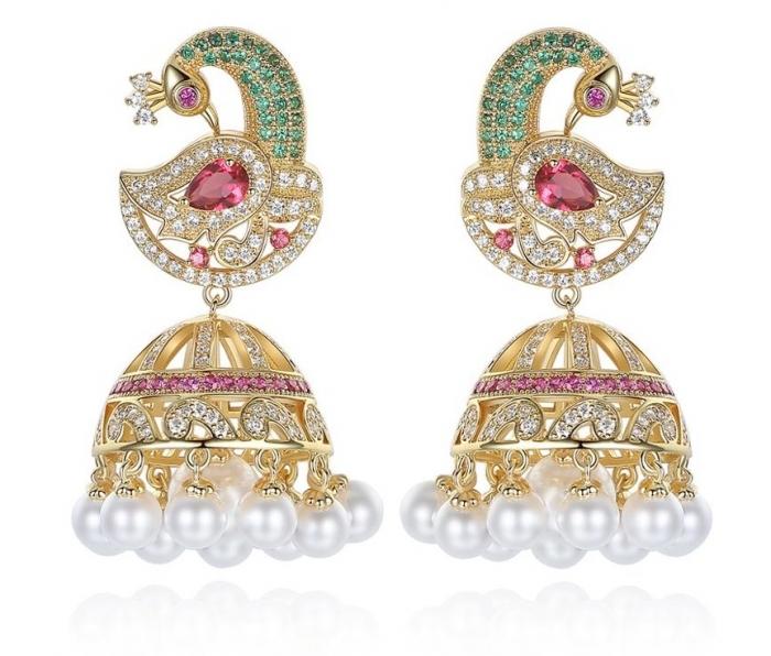 Cercei Borealy Peacock Pearls 0
