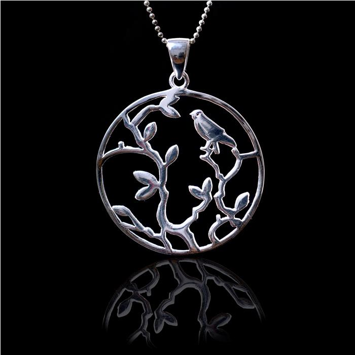White Nature Silver Medalion by Borealy Argint 925-big