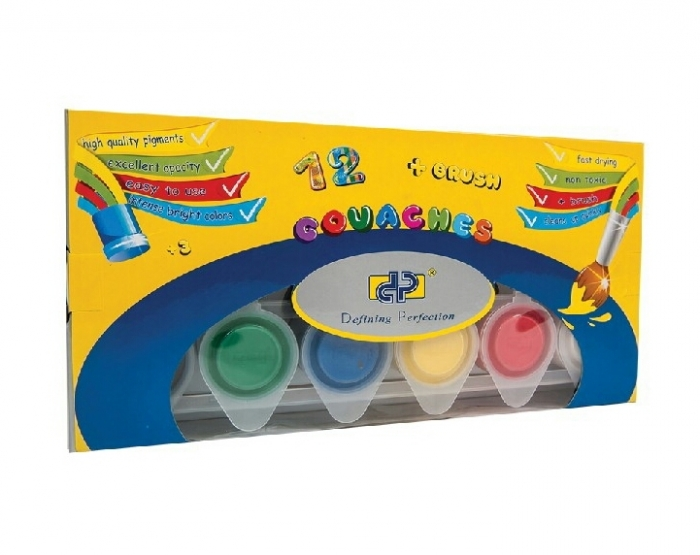 Guase Set 12 culori + pensula PREMIUM [0]