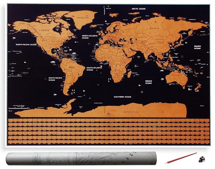 "Harta razuibila Borealy ""Am fost acolo"" -  varianta mini-big"