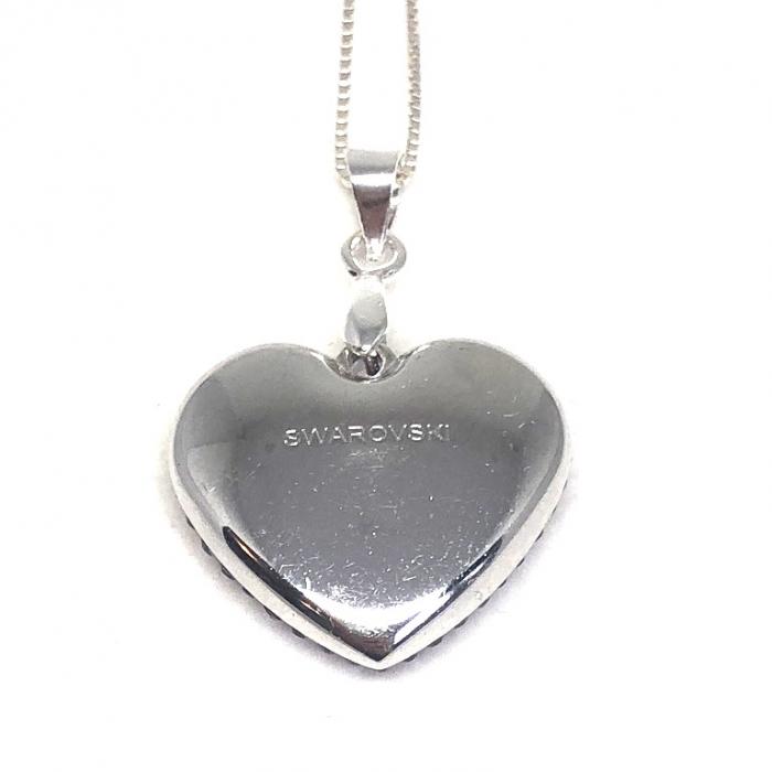Inima Swarovski Phantasya Pink & Lantisor Argint 925 1
