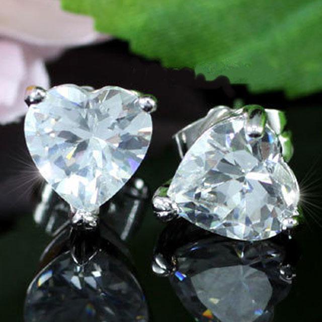 Cercei Borealy Argint 925 Sapphire Heart 3