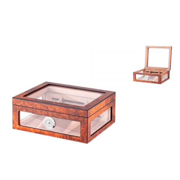 Humidor Brown Glass  Angelo Lemn de Cedru [1]