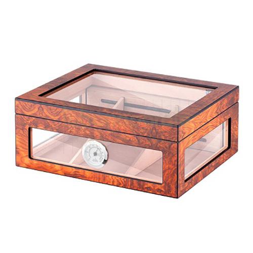Humidor Brown Glass  Angelo Lemn de Cedru [0]