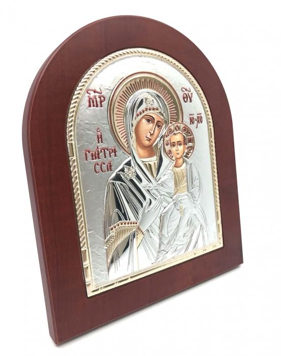 Icoana Maica Domnului si Pruncul placata cu aur si argint 2