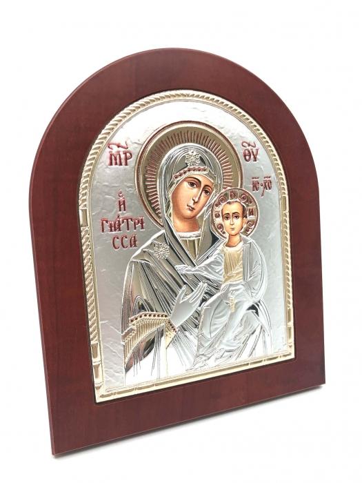 Cadou Traditional Icoana Maica Domnului si Pruncul placata cu aur si argint [2]